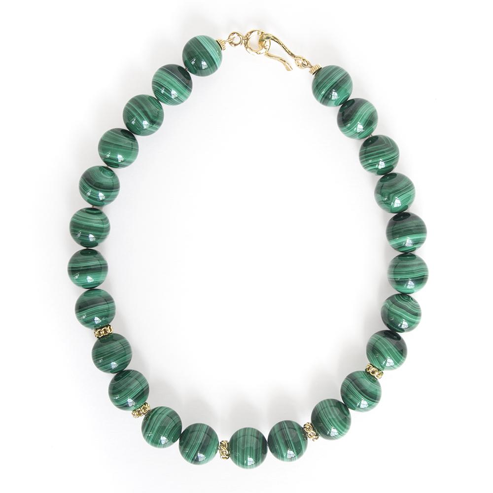 malachite necklace designs